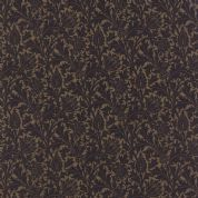 Moda Morris Earthly Paradise by Barbara Brackman - 4760 - Thistles, Black Floral on Dark Beige - 8332 22 - Cotton Fabric